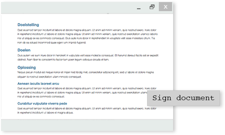 digitally sign document